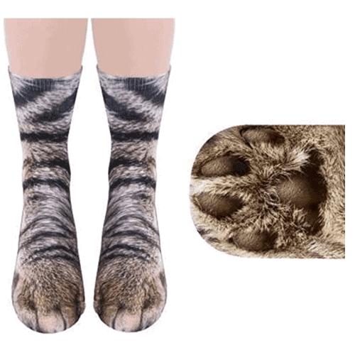 gift idea - Animal Paw Socks Gag