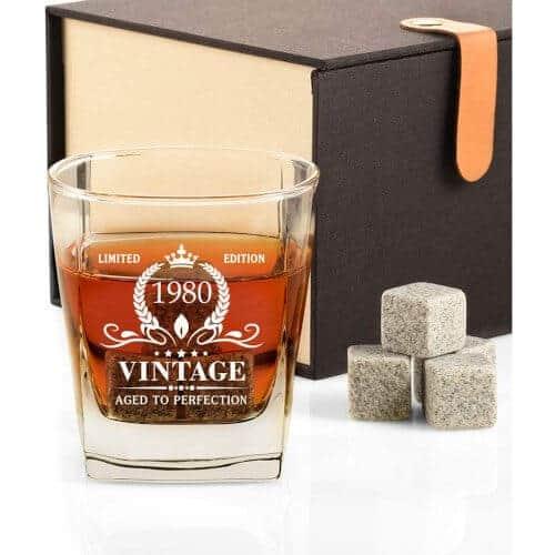 40 Birthday Gift Ideas — 1980 Vintage Whiskey Glass
