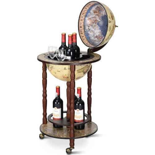 40 Birthday Gift Ideas — Wood Globe Bar Stand