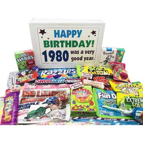 40 Birthday Gift Ideas — Woodstock Candy Set 1980