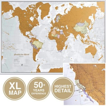 gift ideas — scratch off world map