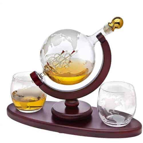 gift idea - whiskey globe decanter