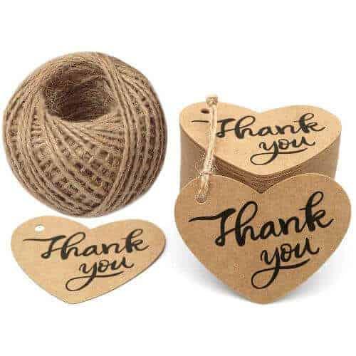 gift idea - 100PCS Thank You Tags