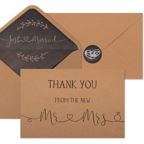 gift idea - Wedding Thank You Cards with Envelopes and Stickers