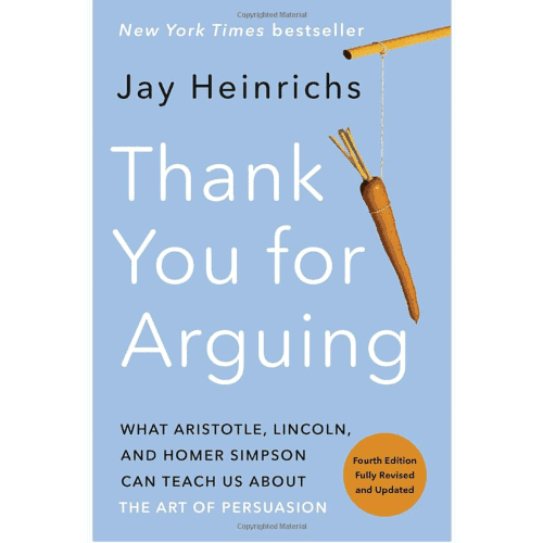 gift idea - thank you for arguing book