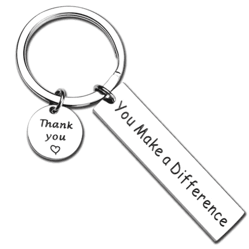 gift idea - you make a difference keychain
